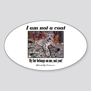 Paws Off Oval Sticker
