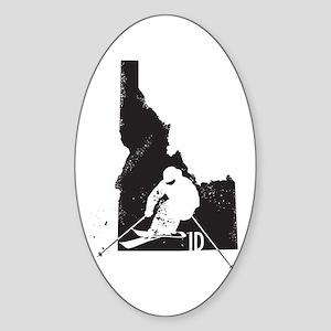 Ski Idaho Sticker (Oval)