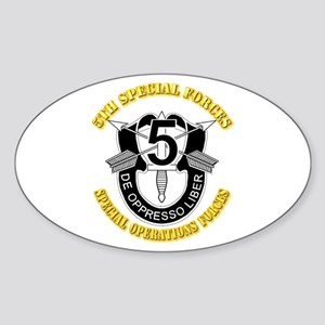 5th Special Forces - DUI Sticker (Oval)