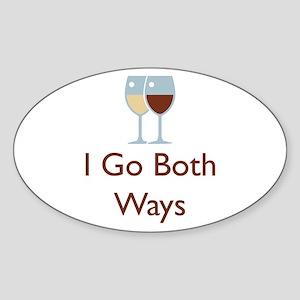 I Go Both Ways Sticker (Oval)