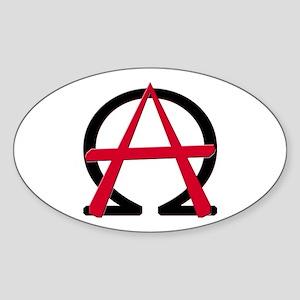 Christain Anarchy Oval Sticker