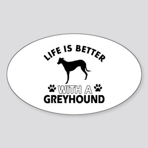Greyhound dog gear Sticker (Oval)