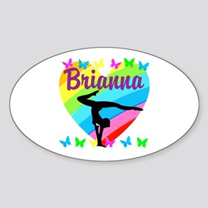 PERSONALIZE GYMNAST Sticker (Oval)