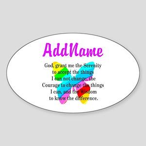 SERENITY PRAYER Sticker (Oval)