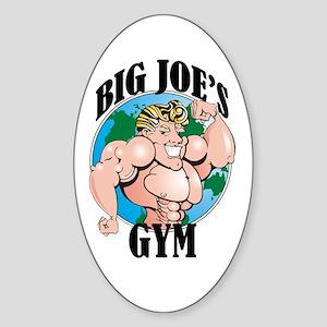 Big Joe's Gym Oval Sticker