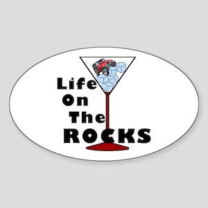 On Rocks Martini Sticker (Oval)