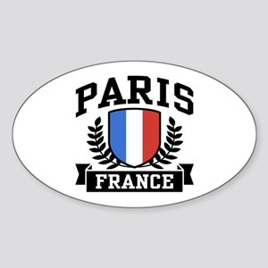 Paris France Oval Sticker