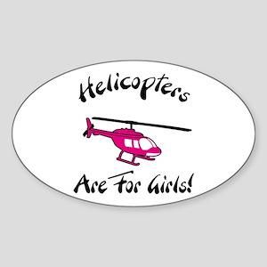 Heli for Girls Oval Sticker