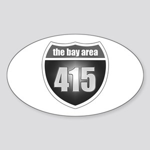 The Bay Area (415) Oval Sticker