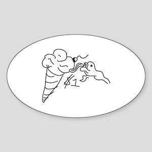 1 Dollar Lick Sticker (Oval)
