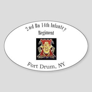 2nd 14th Inf Reg Sticker (Oval)