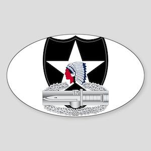2nd Infantry CAB Sticker (Oval)