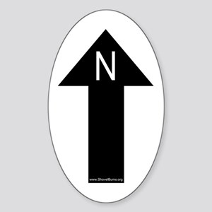 Archaeology north arrow Oval Sticker