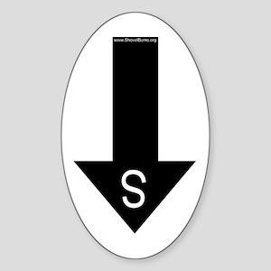 Archaeologist south arrow Oval Sticker