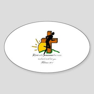 Hebrews Oval Sticker