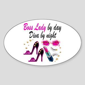 BOSS LADY Sticker (Oval)