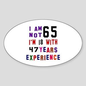 65 Birthday Designs Sticker (Oval)