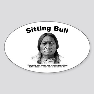 Sitting Bull: Share Sticker (Oval)