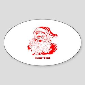 Christmas Santa Customized Sticker (Oval)