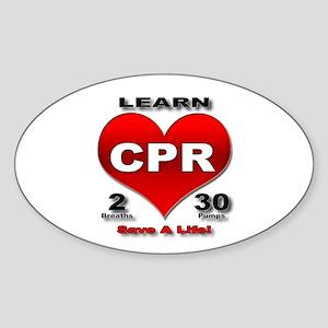 """Save a Life!"" Oval Sticker"