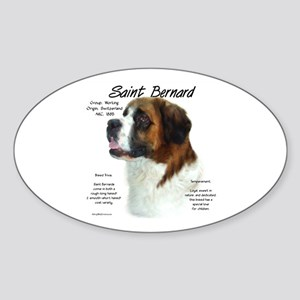 Saint Bernard (Rough) Sticker (Oval)