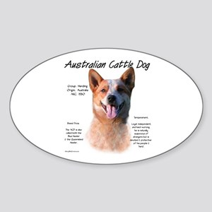 Cattle Dog (red) Sticker (Oval)
