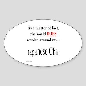 Chin World Oval Sticker