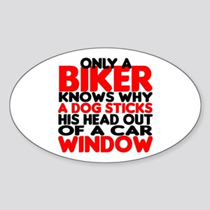 Only a Biker Oval Sticker