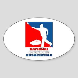 National Cornhole Association Oval Sticker