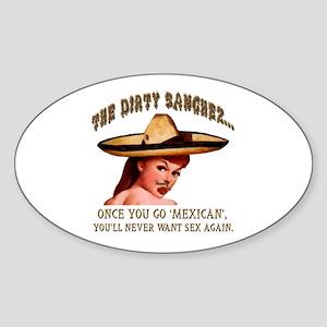 DirtySanchez Oval Sticker