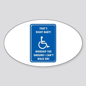 Worship The Ground I Can't Walk On Oval Sticker