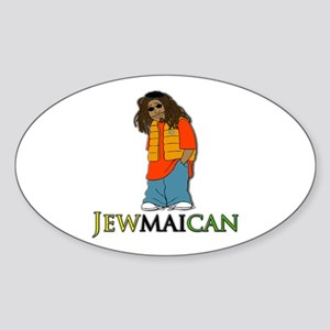 Jewmaican Oval Sticker