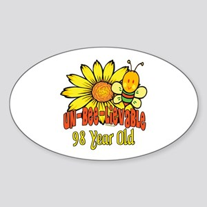Un-Bee-Lievable 98th Oval Sticker