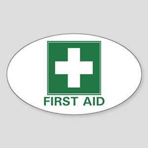 First Aid Oval Sticker