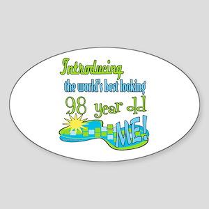 Best Looking 98th Oval Sticker