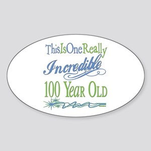 Incredible 100th Oval Sticker