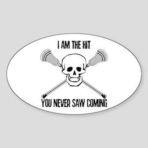 Lacrosse Never Saw Sticker (Oval)