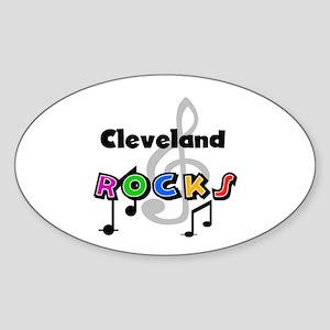 Cleveland Rocks Oval Sticker