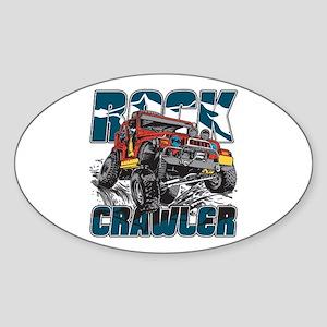 Rock Crawler 4x4 Sticker (Oval)