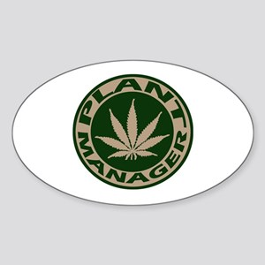 Plant Manager Oval Sticker