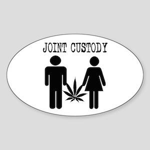Joint Custody Oval Sticker