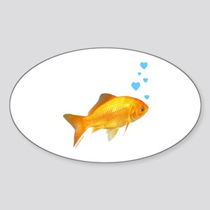GOLDFISH Oval Sticker