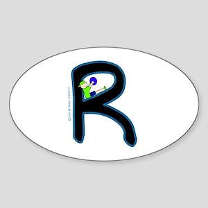 R (Boy) Oval Sticker