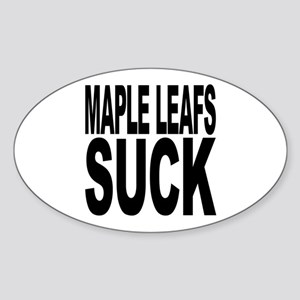 Maple Leafs Suck Oval Sticker