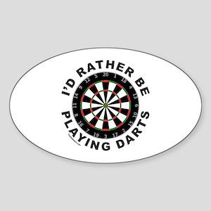 DARTBOARD/DARTS Oval Sticker