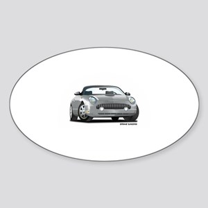 2002 05 Ford Thunderbird Silver Oval Sticker