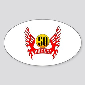 50 Rocks Sticker (Oval)