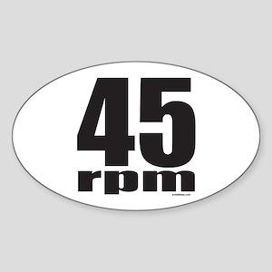 45 RPM Sticker (Oval)