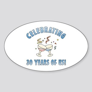 30th Anniversary Party Sticker (Oval)