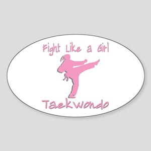 Taekwondo Sticker (Oval)